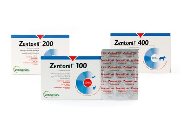 Packets of 100 200 and 400 zentonil