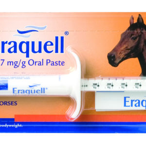 Packet of eraquell individual oral paste for horses
