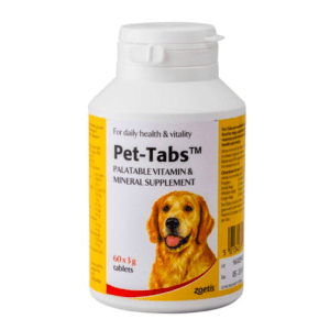 Bottle of Pet Tabs vitamins for dogs