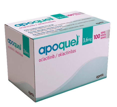 Box of Zoetis Apoquel 3.6mg tablets