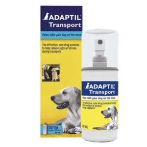 Box and bottle of Ceva Adaptil Transport Spray