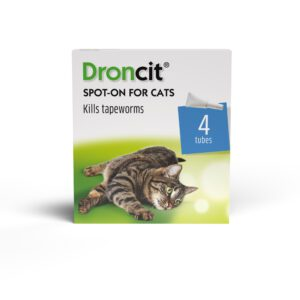 Pack of Droncit Spot On Wormer for Cats