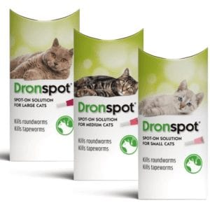 Dronspot Spot On Wormer for Cats Group Pack Shot