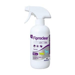 Fiproclear Spray for ticks and fleas in cats and dogs - 500ml bottle
