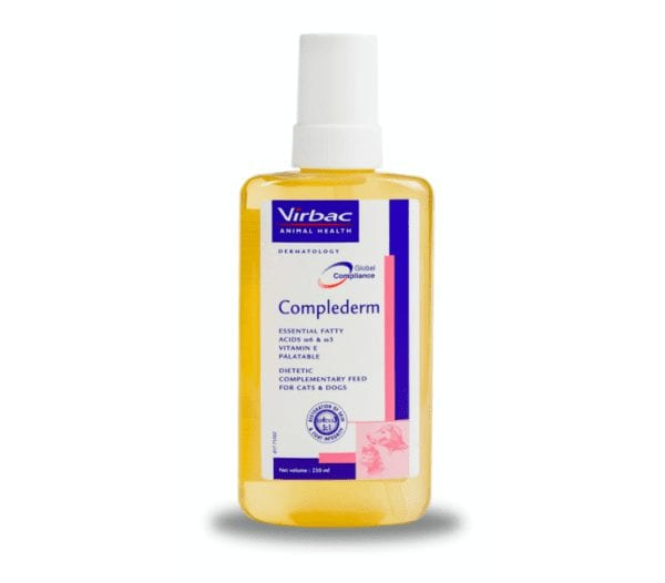Bottle of 250ml complederm for cats and dogs