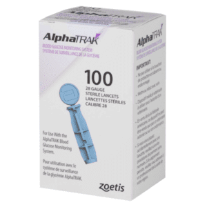 Zoetis AlphaTrak 2 Lancets 100 for use with the AlphaTRAK 2 portable blood glucose monitoring system