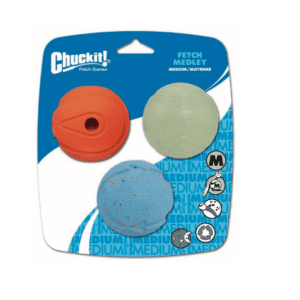 Chuckit fetch medley assorted balls for dogs