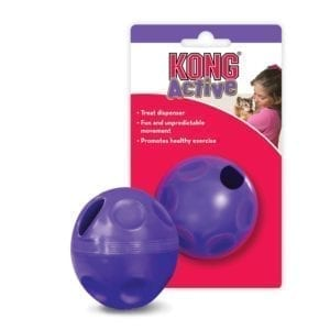 Kong cat treat ball purple