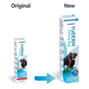 Old and new yuderm packaging