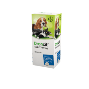 Bayer Droncit 50mg tablets for cats and dogs 100 tablets