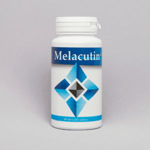 Front of the packet of melacutin tablets