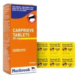 Norbrook Carprieve 20mg Tablets x 100 blister pack