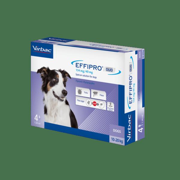 Virbac Effipro Duo dog 10-20kg 134mg box