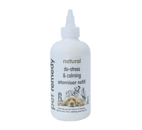 250ml bottle of Pet Remedy Natural de-stress and calming atomiser refill