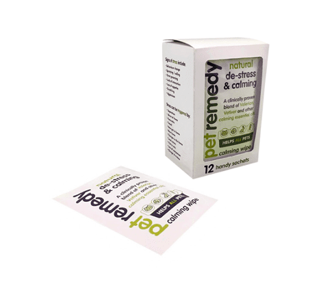 Box of 12 Pet Remedy Calming Wipes