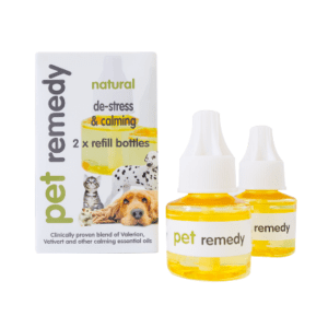 Box of 2 x 40ml Pet Remedy De-Stress and Calming Diffuser Refill Bottles