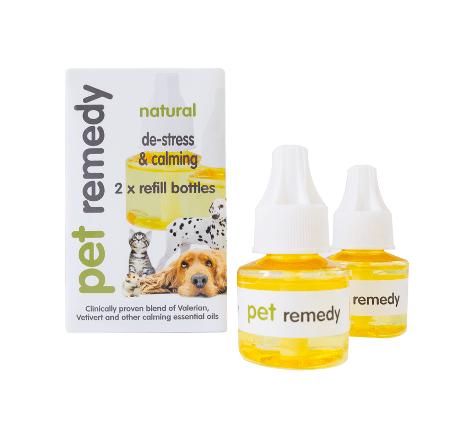 Box of 2 x 40ml Pet Remedy De-Stress and Calming Diffuser Refill Bottles