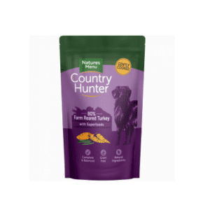 Pouch of country hunter dog turkey food
