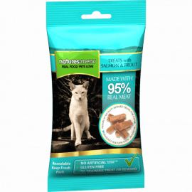 Natures menu salmon and trout treats for cats