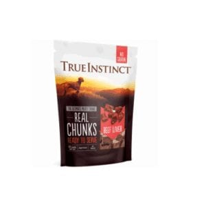True instinct beef liver freeze dried real chunks for dogs