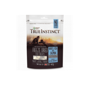 Packet of true instinct freeze dried fish