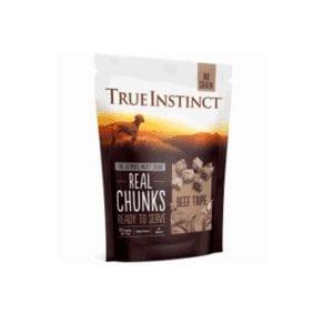 True instinct freeze dried trip chunks for dogs