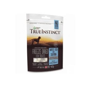 True instinct white fish and salmon treats for dogs