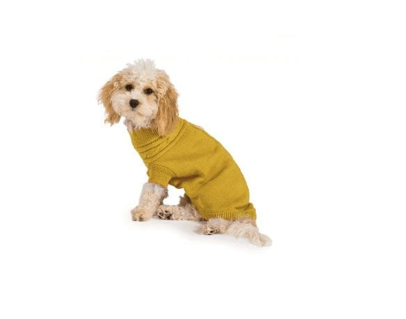 Ancol Mustard Cable Knit Jumper for Dogs