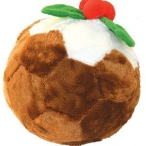 Christmas Football Pudding Dog Toy