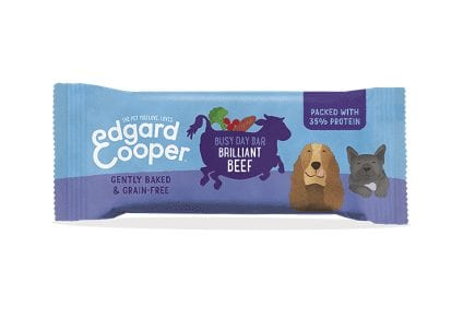 Packet of Edgard cooper brilliant beef busy day bar