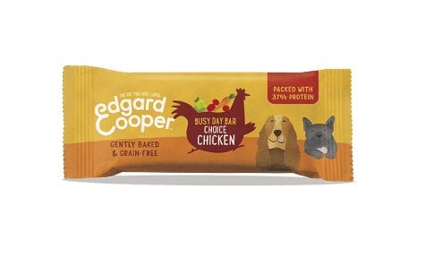 Packet of Edgard cooper choice chicken busy day bar