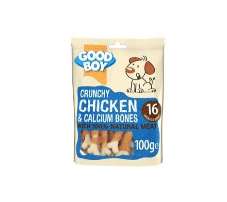 Packet of Good boy crunchy chicken and calcium bones