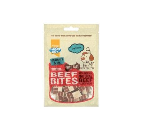 Packet of Good boy deli beef bites