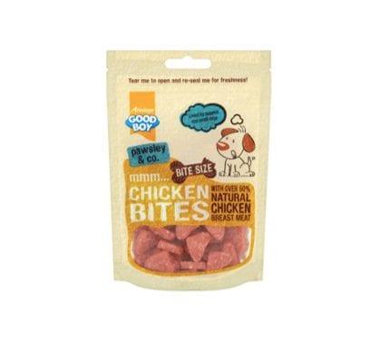 Packet of Good boy deli chicken bites