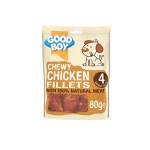 Packet of Good boy deli chicken fillets