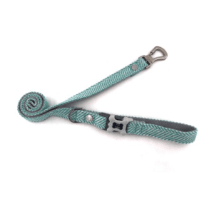Hugo and hudson aqua herringbone lead
