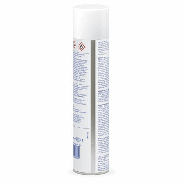 Indorex 500ml back of can