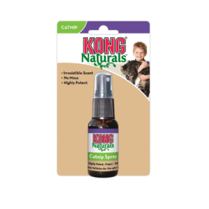 Bottle of Kong catnip premium spray