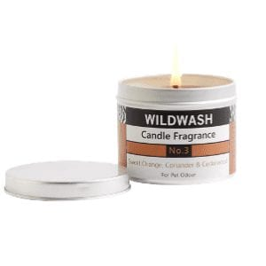 Wildwash orange candle