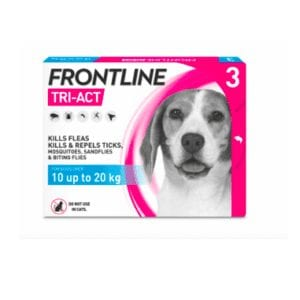 Packet of frontline tri -act medium
