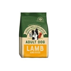 Packet of James wellbeloved adult lamb dog food