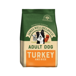 Packet of James wellbeloved adult turkey dog food