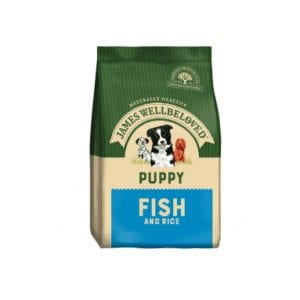 Packet of James wellbeloved puppy fish