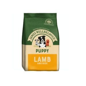 Packet of James wellbeloved puppy lamb