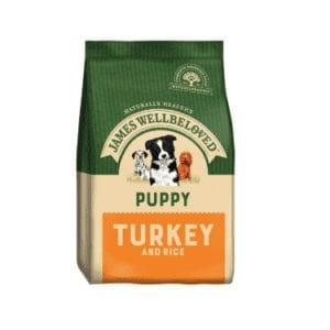 Packet of James wellbeloved puppy turkey