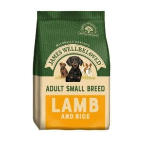 Packet of James wellbeloved small breed lamb