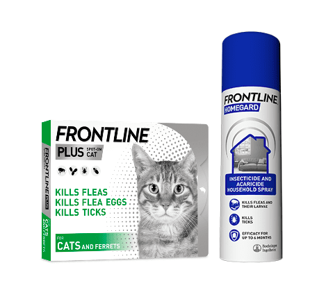 Group image of Frontline Plus for Cats and Frontline Homegard Spray