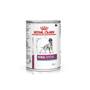 Can of Royal Canin Renal Dog Food Wet